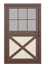 Aluminum Dutch Door with Window