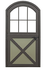 Aluminum Dutch Door with Curved Top