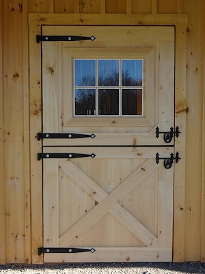 Wooden 4x7 Dutch Door with Window