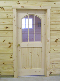 Wooden Door with Glass