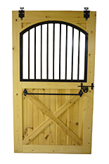 Wooden Stall Door with Arched Top