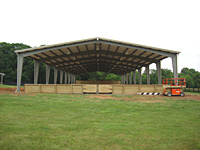 Steel Outdoor Arena Canopy