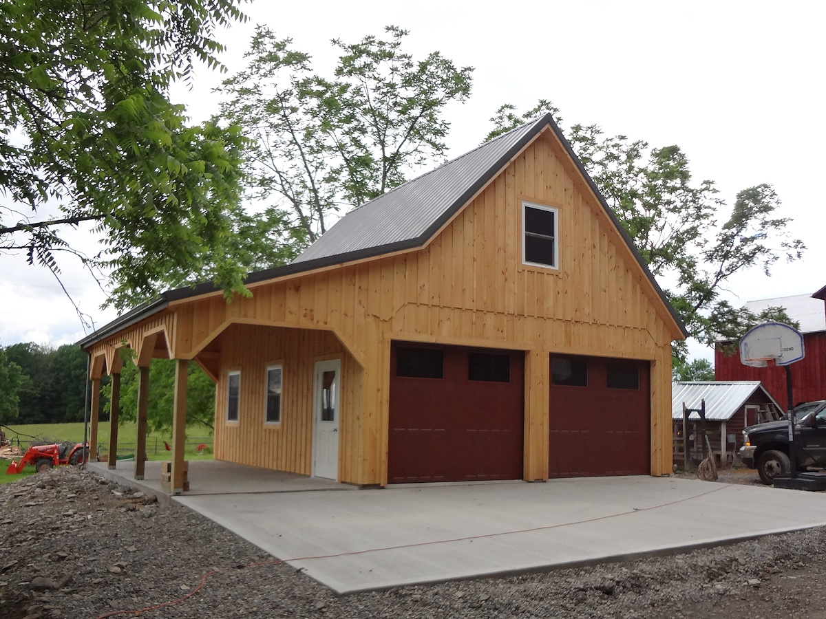 Custom built barn style garage for Pole barn style garage
