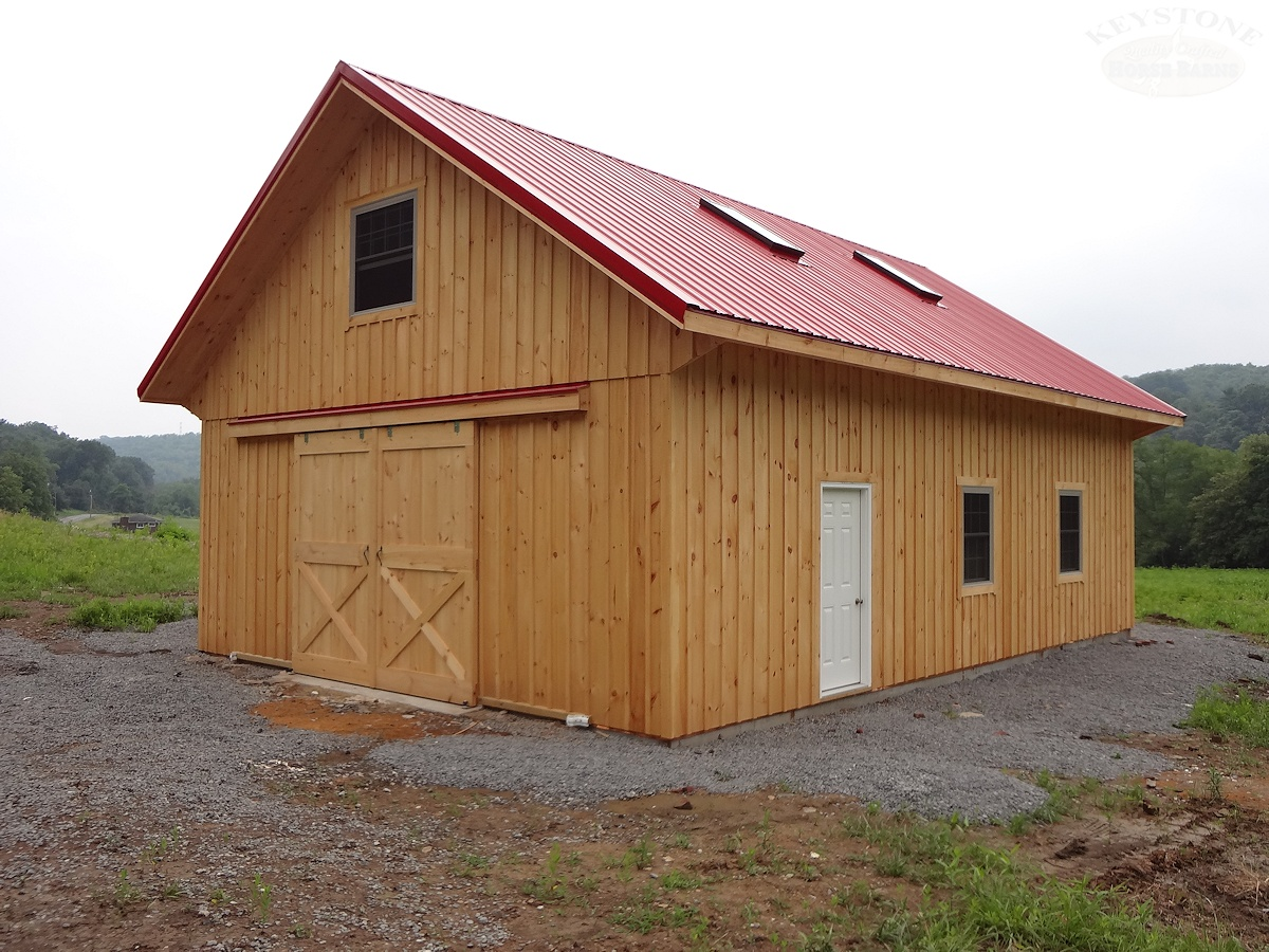 Custom Crafted Wooden Barn Garage: garage barn