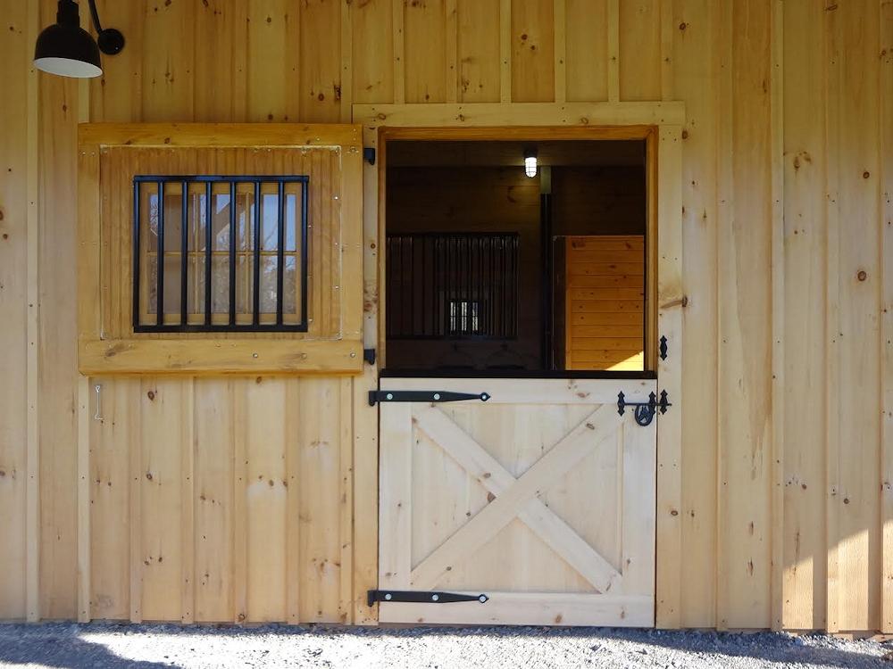 Classic Pine 4x7 Dutch Door with Window & Custom Built Wooden u0026 Aluminum Barn Doors | Dutch Exterior Stall Doors