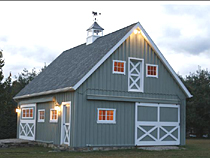 24'x32' Wooden Barn Garage