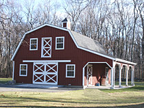 Storage Barn with Gambrel Roof