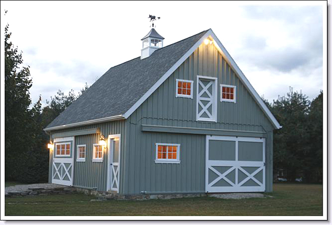 Custom built barn for Cupola with windows