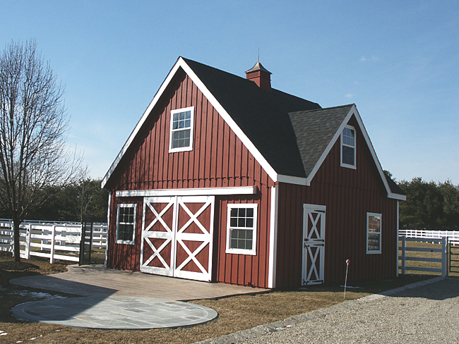 Nj barn with intersecting roof for Small barn with loft