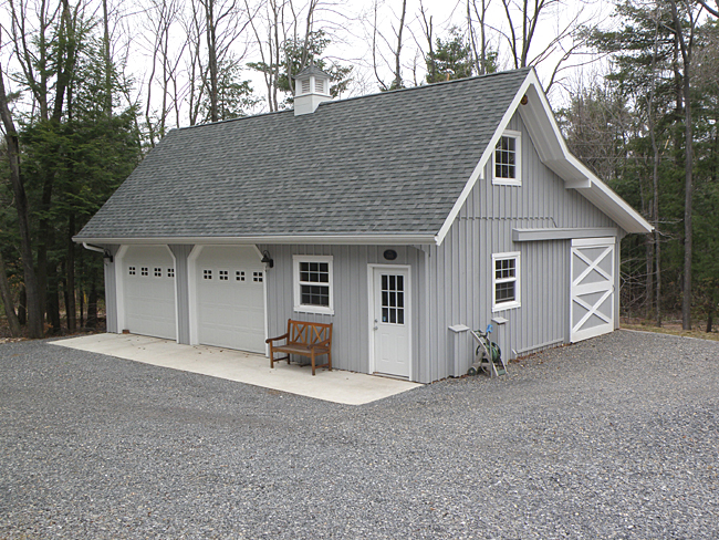 Garage with small shop area for Barn style garages