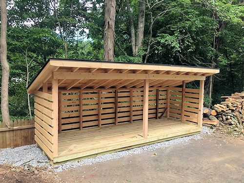 5'x16' Firewood Shed