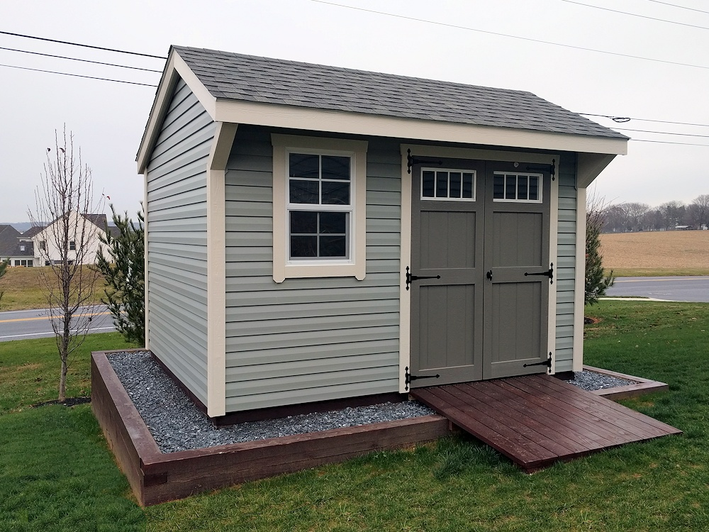 garden shed built on site