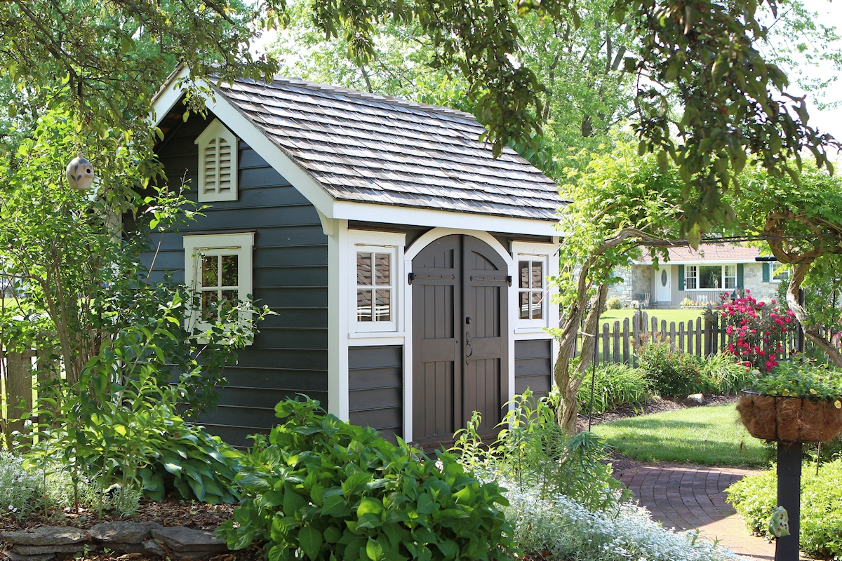 Fancy garden sheds storage sheds built on site for Luxury garden sheds