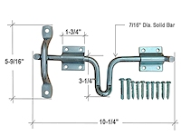 Gate Latch Dimensions