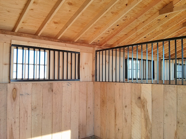 Run In Shed Amp Shedrow Horse Barn Construction