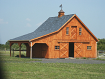30'x24' Barn with Overhang
