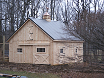 Small 24'x24' Horse Pole Barn
