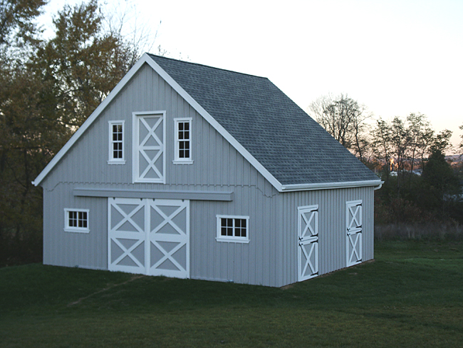 Wood shop free access miniature horse barn plans for Mini barn plans