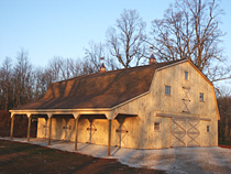 38'x48' Horse Barn with one lean-to & gambrel roof