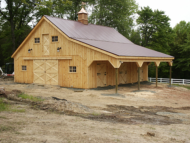 Metal roof metal roof horse barn for Metal barn images