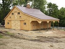 Horse Barn with Lean to