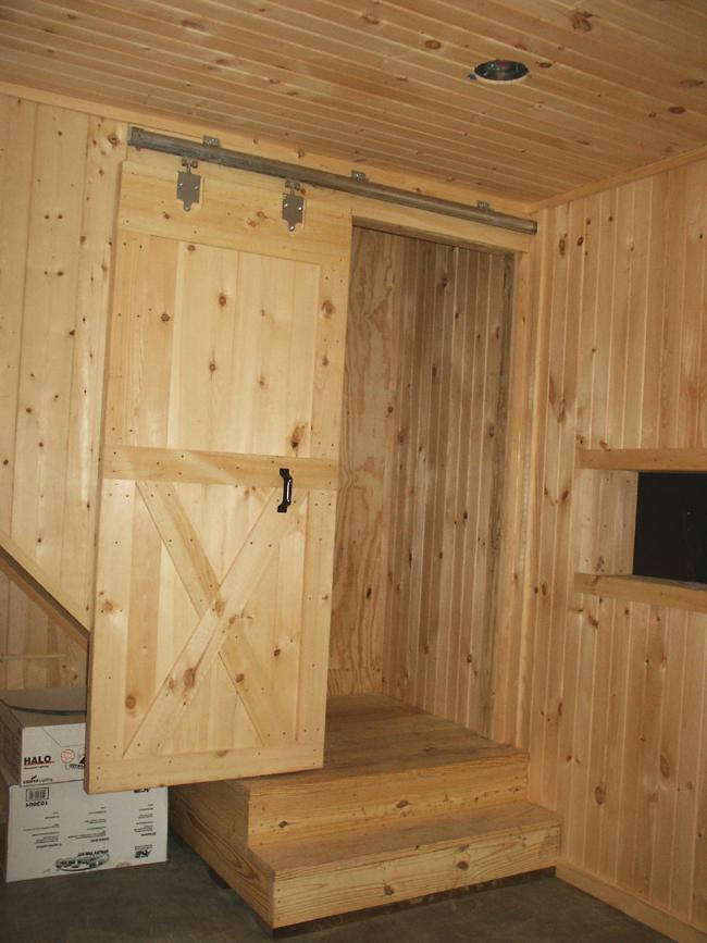Enclosed Stairway In Tack Room