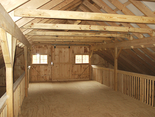 Loft Built Over Center Aisle