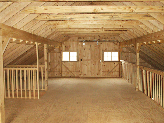 Hay loft design barn loft for Pole barn interior ideas