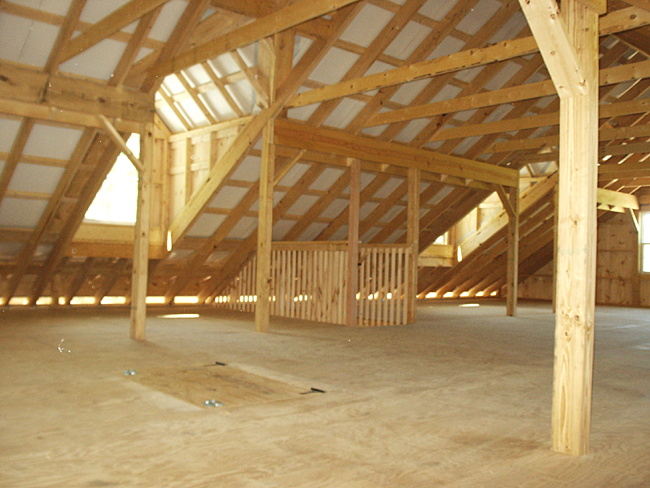 Barn loft with dormers living quarters for Pole building with loft