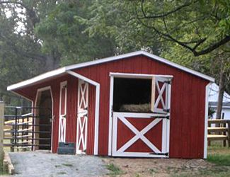 Amish built horse sheds barns keystone barns Horse run in shed plans design