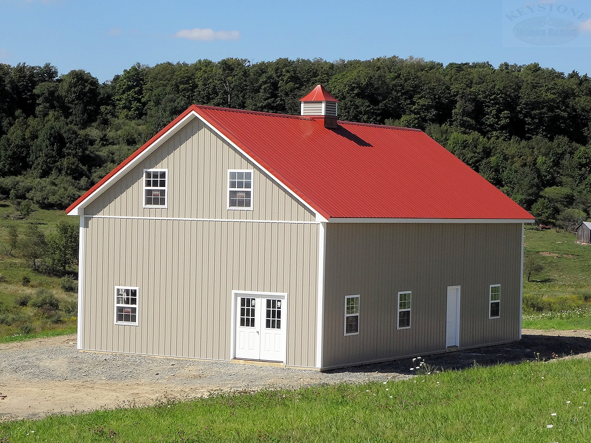 Custom Built House Style Barn