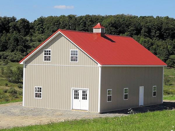 Custom Built House Style Barn