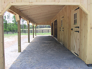 Lean To Sheds And Horse Barns With Large Overhangs