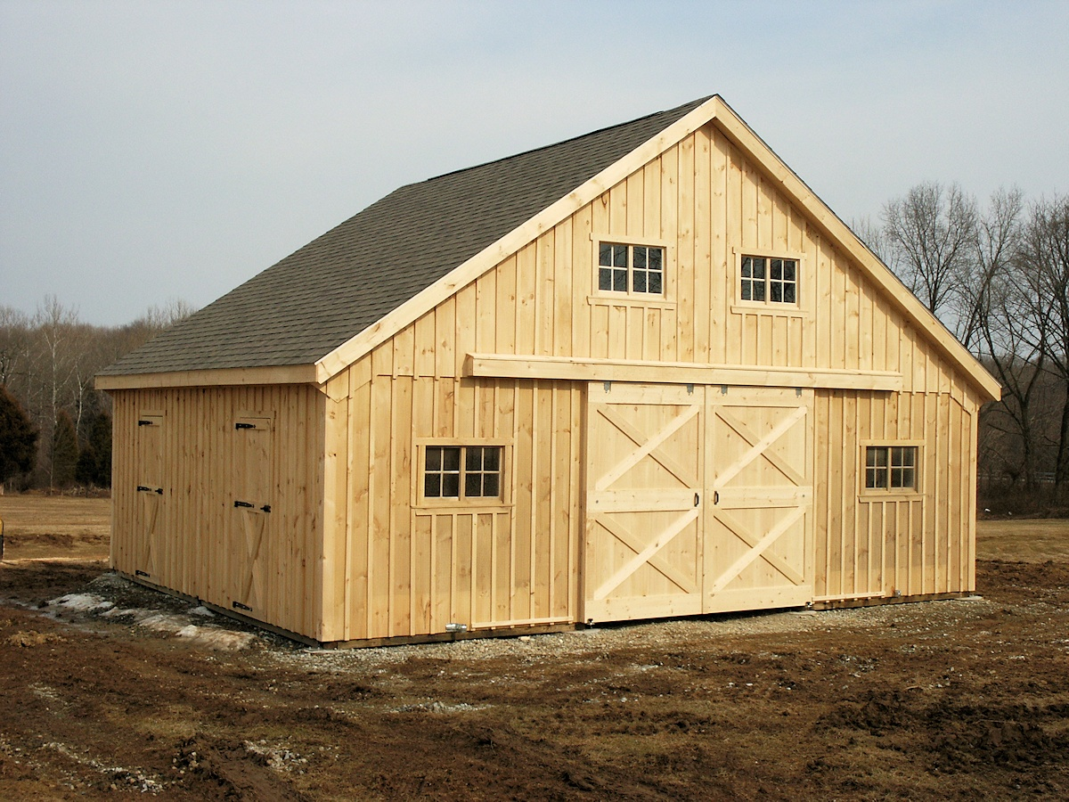 Amish Built Barns : Amish built modular horse barns and stables