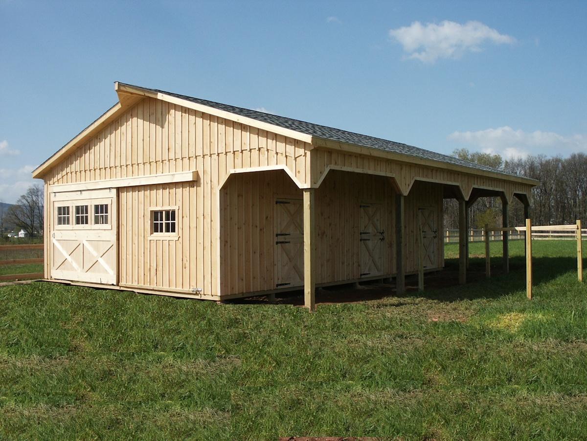Amish Built Modular Horse Barns And Stables