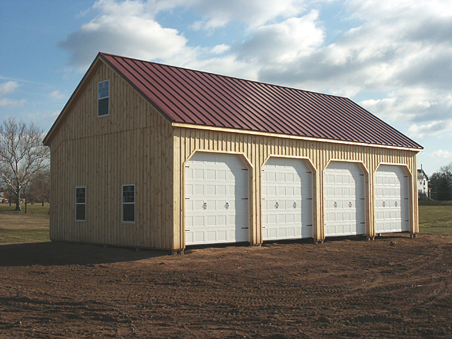 Farm equipment storge building keystone pole barn for 4 car pole barn