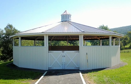 Horse Covered Round Pen