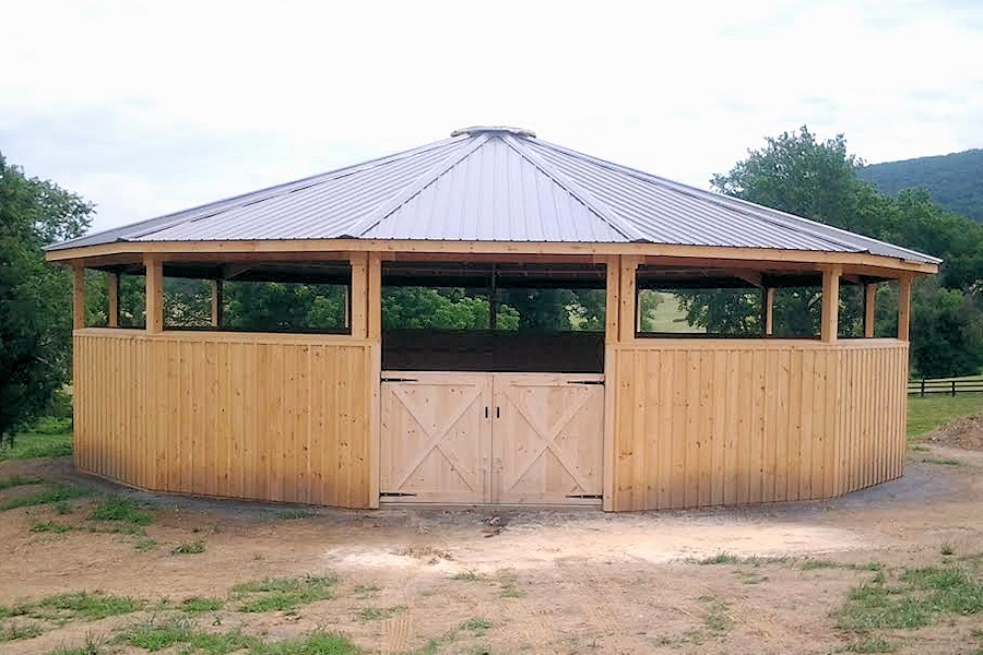 Covered Round Pens Oak Hill Wooden Horse Pens For Sale