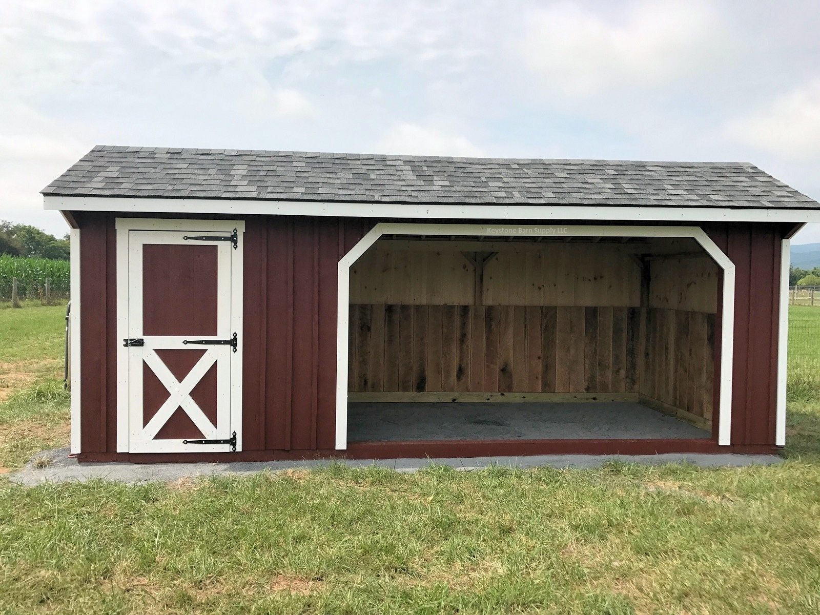 Pre built sheds indiana horse shed metal buildings in for Pre built garden rooms