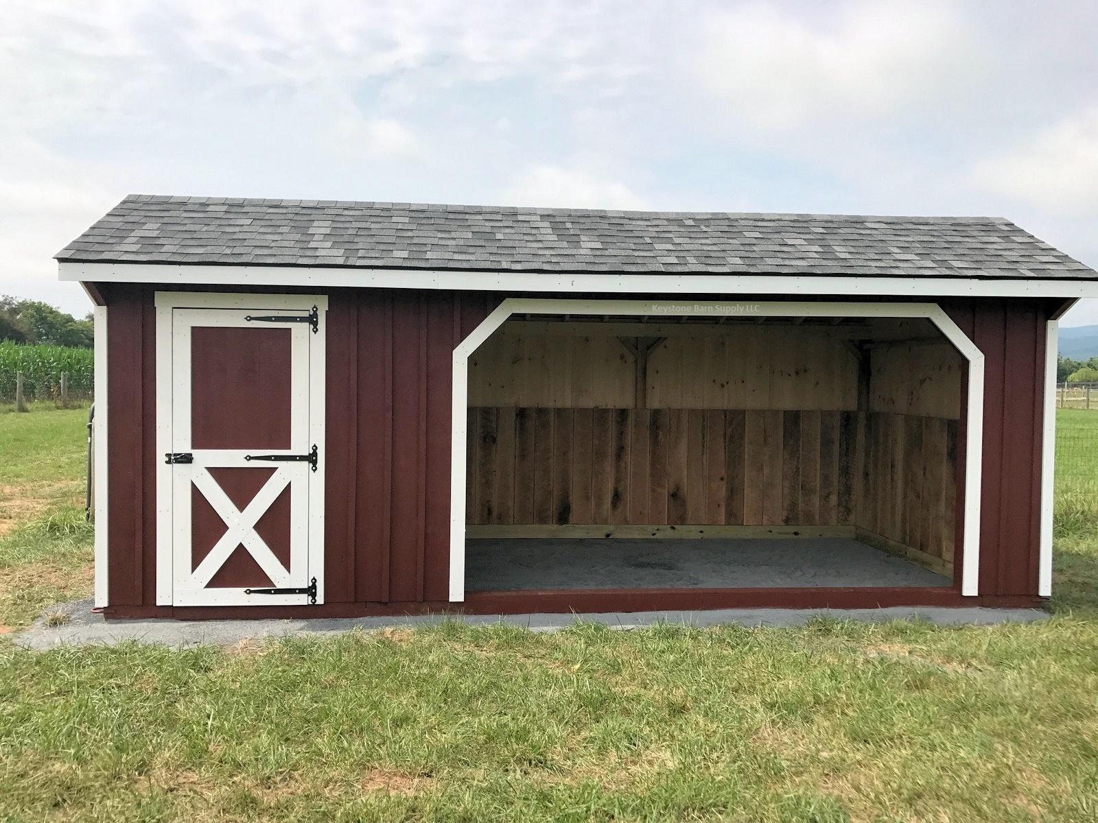Amish built horse sheds barns keystone barns for Amish barn construction