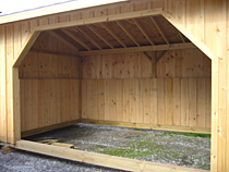 Horse Shed Construction