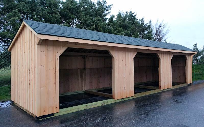 Run in shed photo gallery run in shed images for 3 bay shed