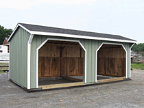 Horse Shed With Two Openings