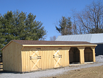 Run In Shed with Stalls