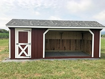 Shed For Horses with Storage