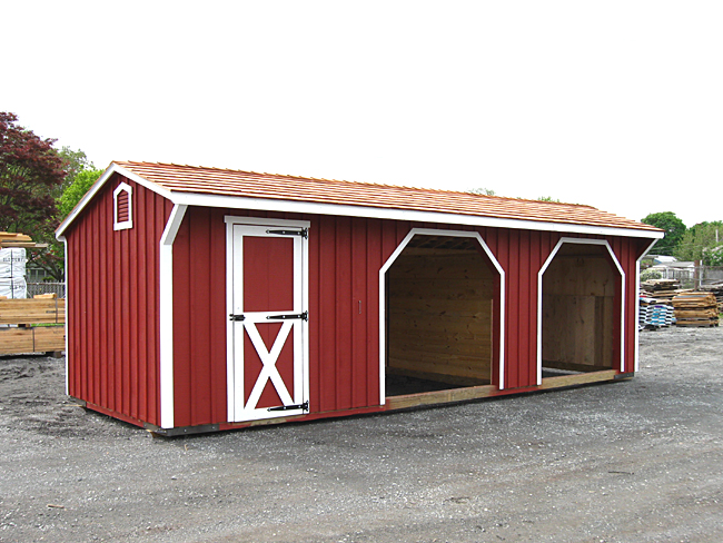 10x28 Horse Shed with Storage Room