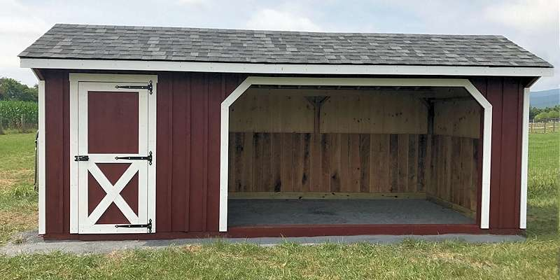 10x12 Run In Shed with Storage Room