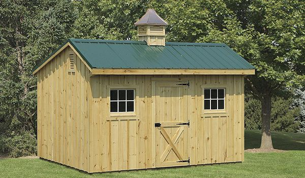 Garden Shed with Metal Roof