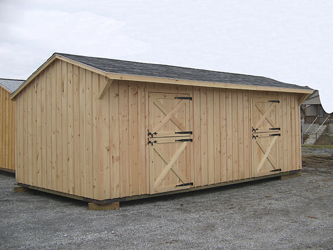 Two stall shed row horse barn for 2 stall horse barn kits
