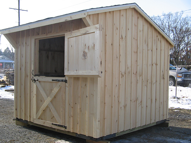 One stall horse barn small shedrow barn for Horse stall door plans